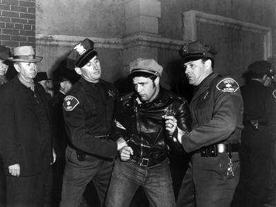 L'Equipee Sauvage THE WILD ONE by Laszlo Benedek with Marlon Brando, 1953 (b/w photo)