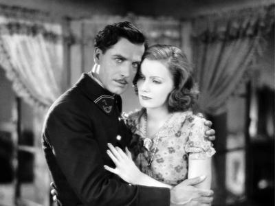 The Divine Woman by Victor Sjostrom with Lars Hanson and Greta Garbo, 1928 (b/w photo)