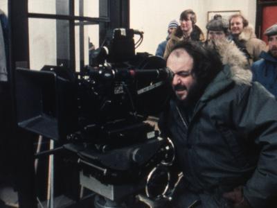 Le realisateur Stanley Kubrick sur le tournage du film Shining, 1980 (d'apres StephenKing) (photo)