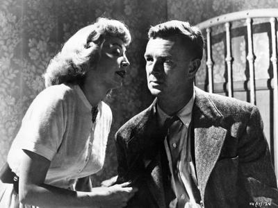 THE KILLING, 1956 directed by STANLEY KUBRICK Coleen Gray / Sterling Hayden (b/w photo)