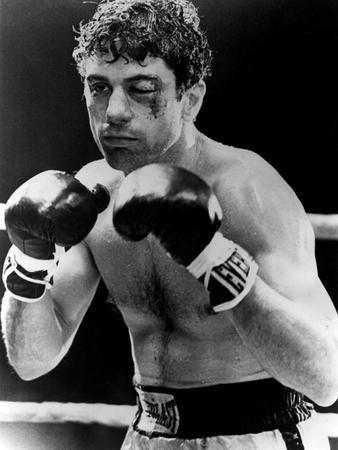 Raging Bull by Martin Scorsese with Robert by Niro, 1980 (b/w photo)