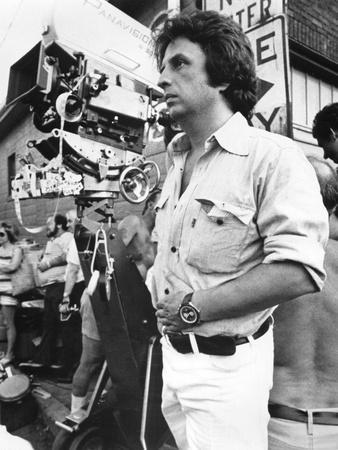 Le realisateur Michael Cimino sur le tournage du film Voyage au bout by l'enfer THE DEER HUNTER, 19