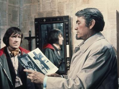 La Malediction THE OMEN by Richard Donner with David warner and Gregory Peck, 1976 (photo)