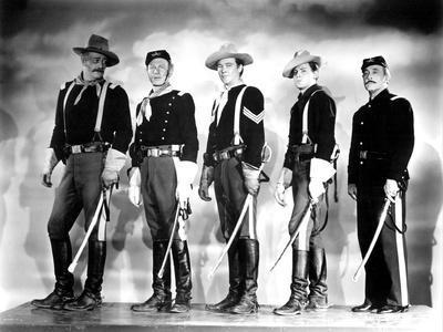 SHE WORE A YELLOW RIBBON, 1949 directed by JOHN FORD John Wayne, Harry Carey Jr., Ben Johnson, John