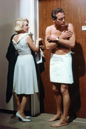 Pas by Lauriers pour les Tueurs THE PRIZE with Micheline Presle and Paul Newman, 1963 (photo)