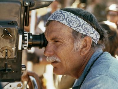 Sam Peckinpah sur le tournage du film Un nomme Cable Hogue THE BALLAD OF CABLE HOGUE, 1970 (photo)