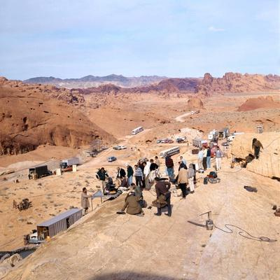 Tournage du film Les Professionnels THE PROFESSIONALS by Richard Brooks, 1966 (photo)