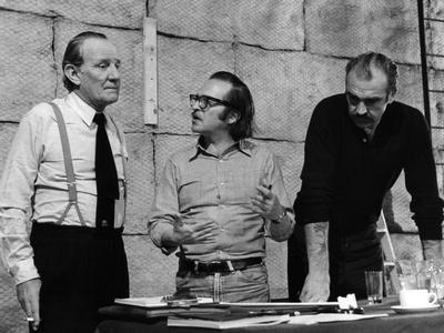 Sidney Lumet and Sean Connery sur le tournage du film Le Gang Anderson THE ANDERSON TAPES, 1971 (b/
