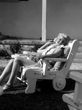 American actress Rita Hayworth (1918 - 1987) (b/w photo)