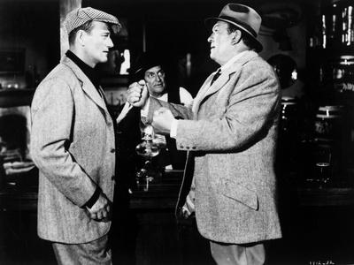 L' Homme Tranquille THE QUIET MAN by JohnFord with John Wayne and Victor McLaglen, 1952 (b/w photo)