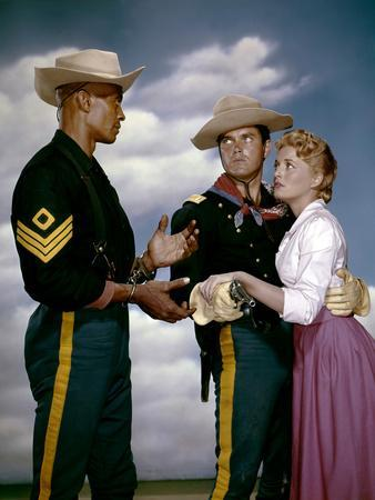 SERGEANT RUTLEGE directed by JohnFord with Woody Strode, Jeffrey Hunter and Constance Towers, 1960