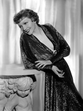 Claudette Colbert en, 1935 (b/w photo)