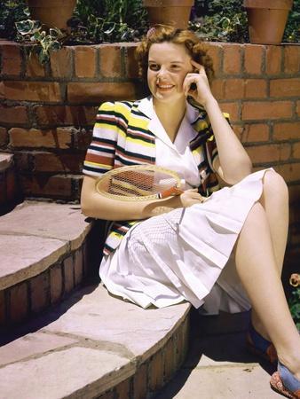 American singer Judy Garland (1922 - 1969), en, 1940 (photo)