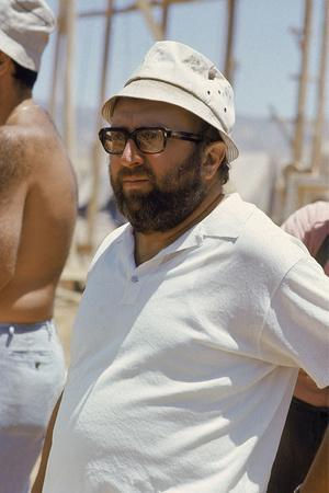 """Sergio Leone (1929 - 1989) during the shooting of """"Once Upon a Time in the West"""" april 29th, 1968 ("""