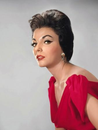 Joan Collins, British actress born May 23rd, 1933, here 1957 (photo)