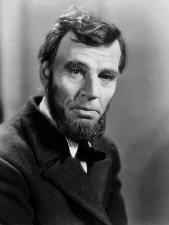 Abraham Lincoln, film biographique by D.W. Griffith with Walter Huston, 1930 (b/w photo)