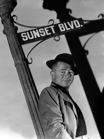Billy Wilder sur le plateau du film Boulevard du crepuscule (SUNSET BOULEVARD), 1950 On the set (b/