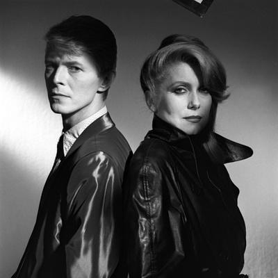 Les predateurs HUNGER by Tony Scott with David Bowie and Catherine Deneuve, 1983 (b/w photo)