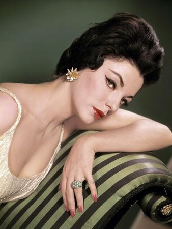 Joan Collins, British actress born May 23rd, 1933, here 1958 (photo)