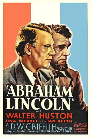 """Affiche du film """" Abraham Lincoln """" by D.W. Griffith with Walter Huston, 1930 (photo)"""