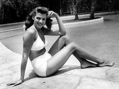 Rita Hayworth (born as Margarita Cansino, 1918 - 1987), here 1947 (b/w photo)