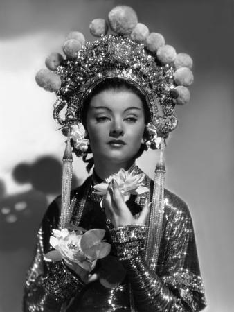 The mask of Fu Manchu by CharlesBrabin with Mirna Loy, 1932 (b/w photo)