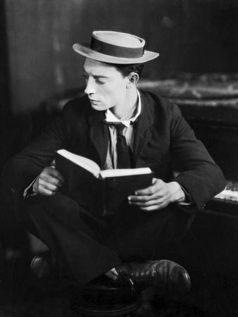 American actor Buster Keaton (1895 - 1966) (b/w photo)