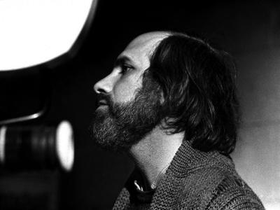 Brian by Palma sur le tournage du film Blow Out en, 1981 (b/w photo)