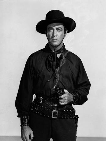 Vaquero Ride, Vaquero! by John Farrow with Robert Taylor, 1953 (b/w photo)