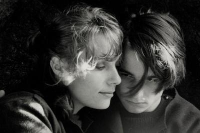 Paul by DiourkaMedveczky with Bernadette Lafont and Jean-Pierre L´aud, 1969 (b/w photo)