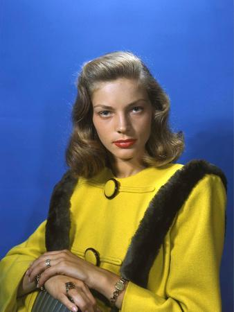 Actress Lauren Bacall born September 16th, 1924 in New York as Betty Joan Perske, here 1945 (photo)