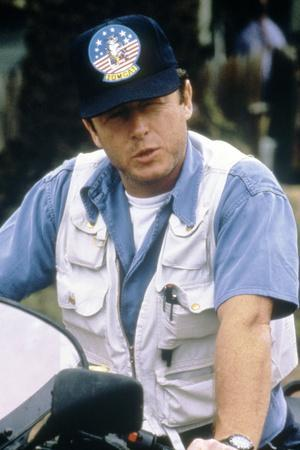 Le realisateur Tony Scott sur le tournage du film Le Flic by Beverly Hills II, 1987 On the set, Ton