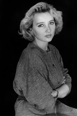 Pauline Lafont en, 1982 (fille by BernadetteLafont) (b/w photo)