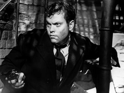 Le Troisieme Homme THE THIRD MAN by Carol Reed with Orson Welles, 1949 (b/w photo)