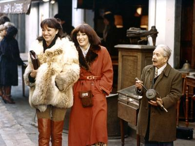 Chaussette surprise by Jean-Fran?oisDavy with Bernadette lafont and Anna karina, 1978 (photo)