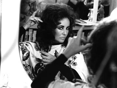 Une Belle Tigresse ZEE & CO by Brian Hutton with Elizabeth Taylor, 1972 (b/w photo)