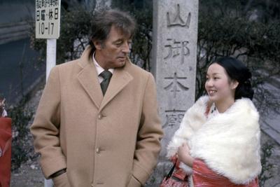 THE YAKUZA by SydneyPollack with Robert Mitchum and Kishi Keiko, 1974 (photo)