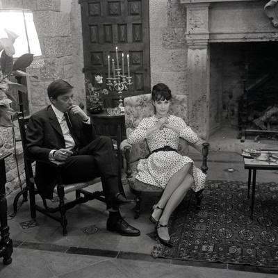 Sur le tournage du film and Satan conduit le bal with Bernadette Lafont and Jacques Doniol-Valcroze