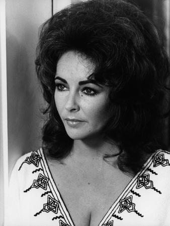 Une Belle Tigresse ZEE & CO by Brian Hutton with Elizabeth Taylor, 1972 (b/w photo)
