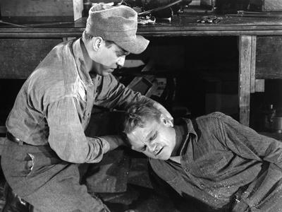 WHITE HEAT, Edmond O'Brien, James Cagney, 1949 (b/w photo)