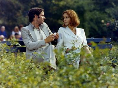 Un Amour by Pluie by Jean Claude Brialy with Romy Schneider and Nino Castelnuovo, 1973 (photo)