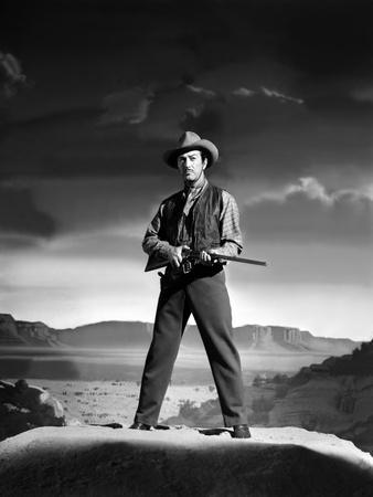 Convoi by Femmes WESTWARD THE WOMEN by William A Wellman with Robert Taylor, 1951 (b/w photo)