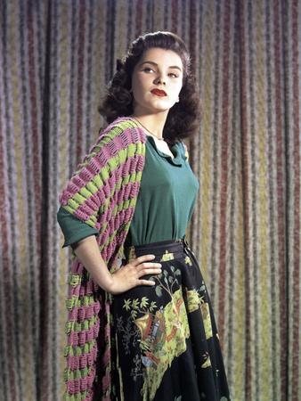 L'actrice americaine Debra Paget dans les annees 50 (photo)