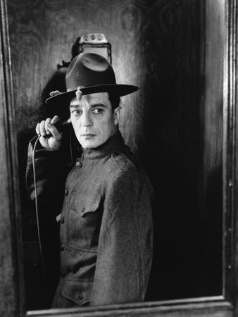 Buster s'en va-t-en guerre (DOUGHBOYS) by EdwardSedgwick with Buster Keaton, 1930 (b/w photo)