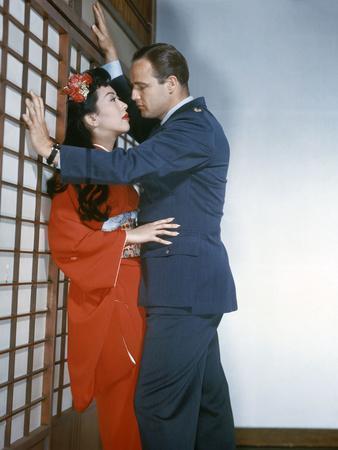 Sayonara by Joshua Logan with Miiko Taka and Marlon Brando, 1957 (photo)