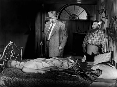 La Soif du Mal TOUCH OF EVIL by OrsonWelles with Orson Welles and Janet Leigh, 1958 (b/w photo)