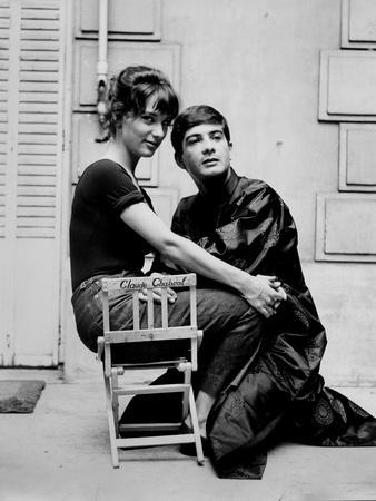 Les Godelureaux by ClaudeChabrol with Bernadette Lafont and Jean Claude Brialy, 1961 (b/w photo)