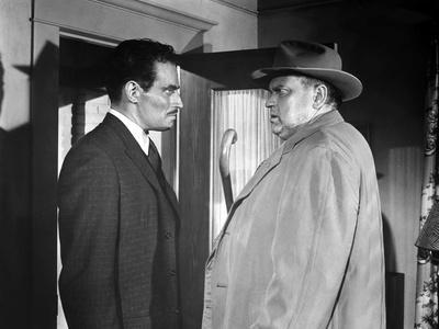 La Soif du Mal TOUCH OF EVIL by OrsonWelles with Charlton Heston and Orson Welles, 1958 (b/w photo)