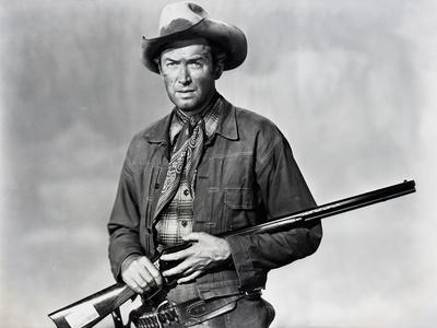 Winchester 73 by AnthonyMann with James Stewart, 1950 (b/w photo)
