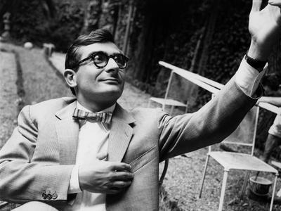 Claude Chabrol sur le tournage du film Les Godelureaux by ClaudeChabrol, 1961 (b/w photo)